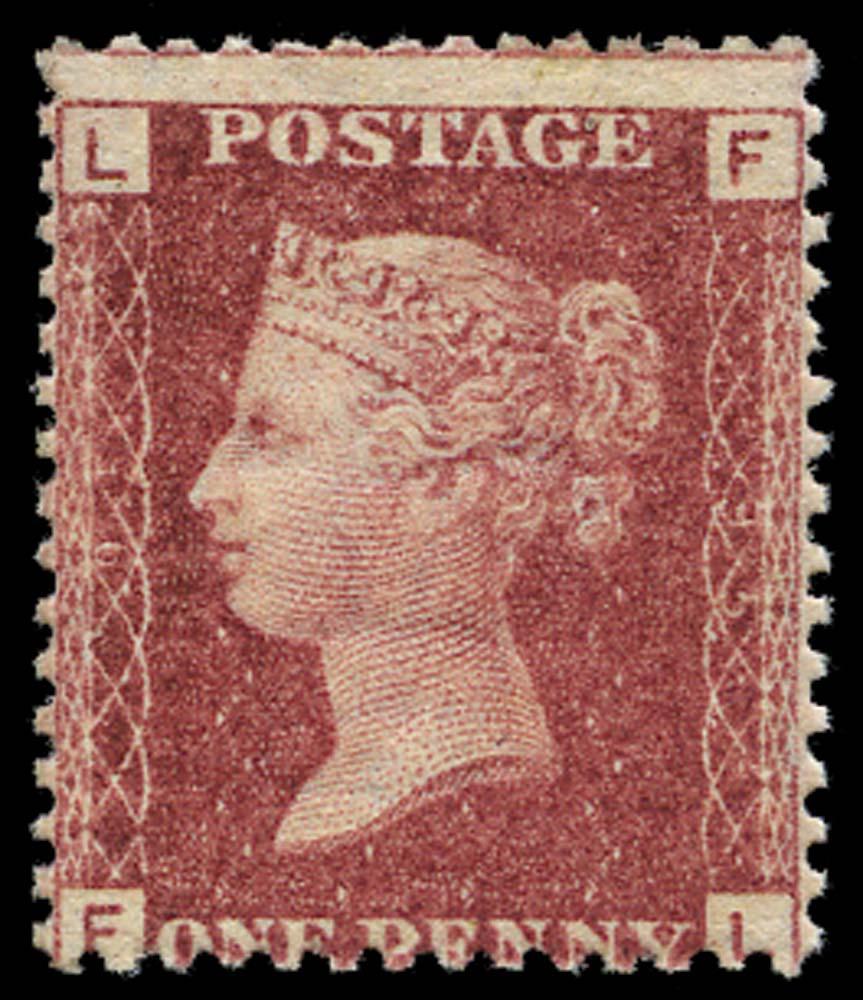 GB 1864  SG43 Pl.95 Mint U/M