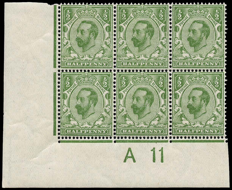 GB 1911  SG321 Mint A11 Control, white spot variety