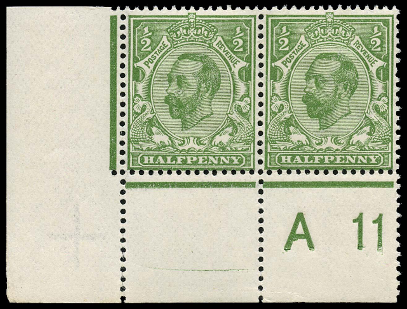 GB 1911  SG325var Mint A11 Control