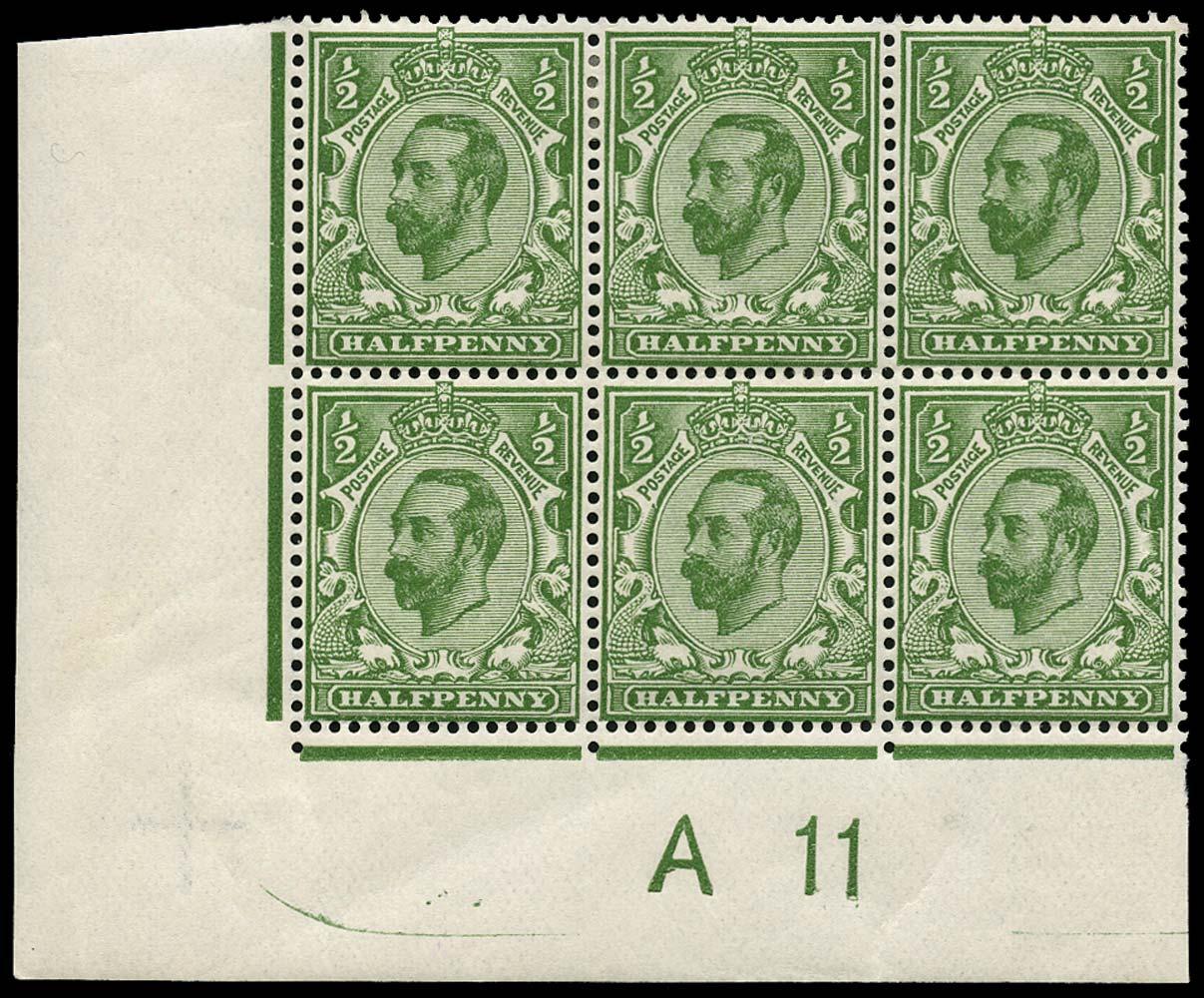 GB 1911  SG325var Mint A11 Control,