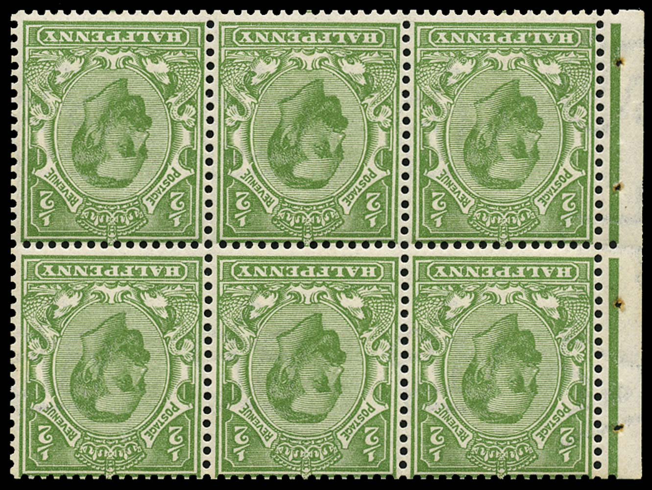 GB 1911  SG324aw Booklet pane booklet pane of six