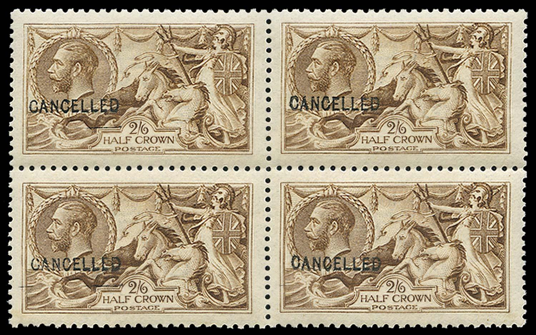 GB 1915  SG406var Mint - Ovpt.