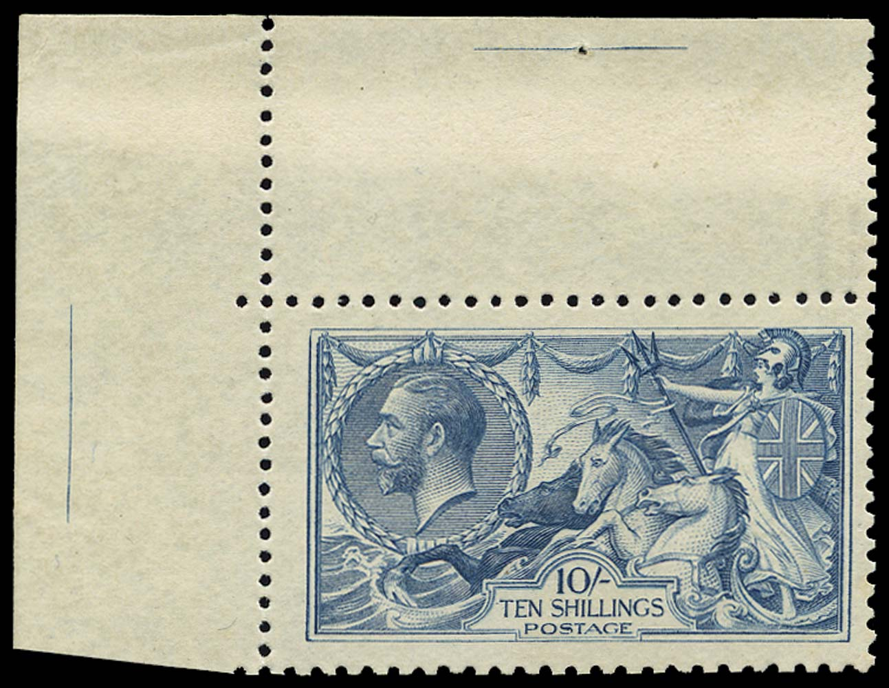 GB 1919  SG417a Pl.1/3L Mint - Re-entry