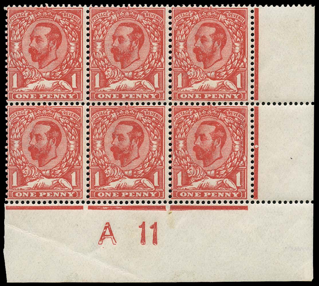GB 1911  SG328 Mint A11 Control