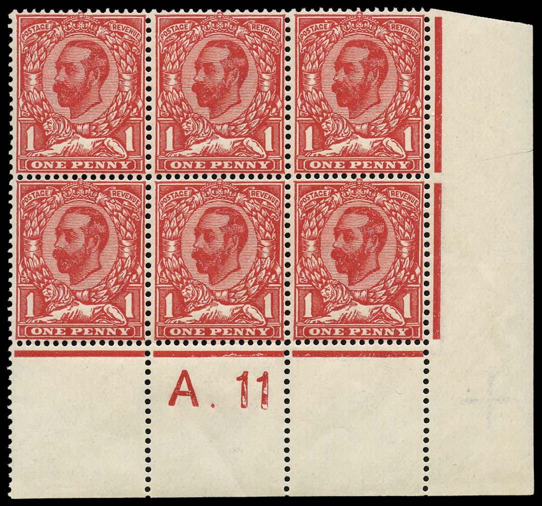 GB 1911  SG329 Mint A.11 Control