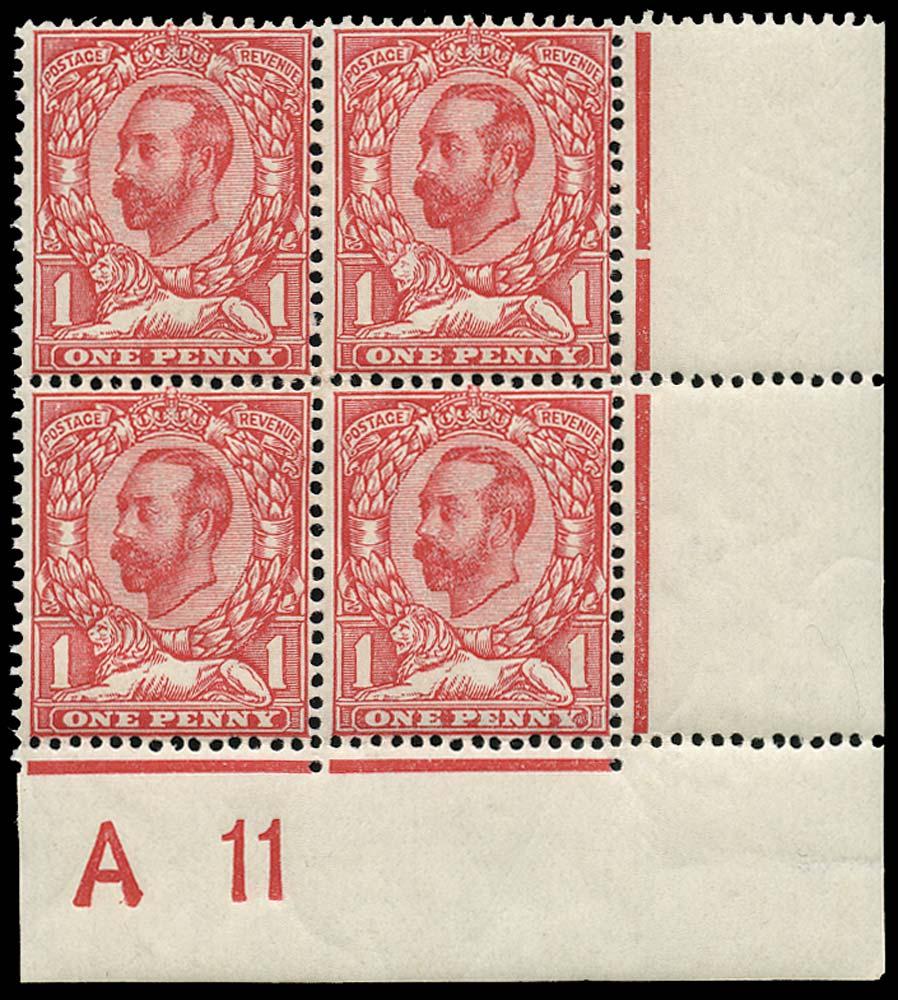 GB 1911  SG330 Mint A 11 Control