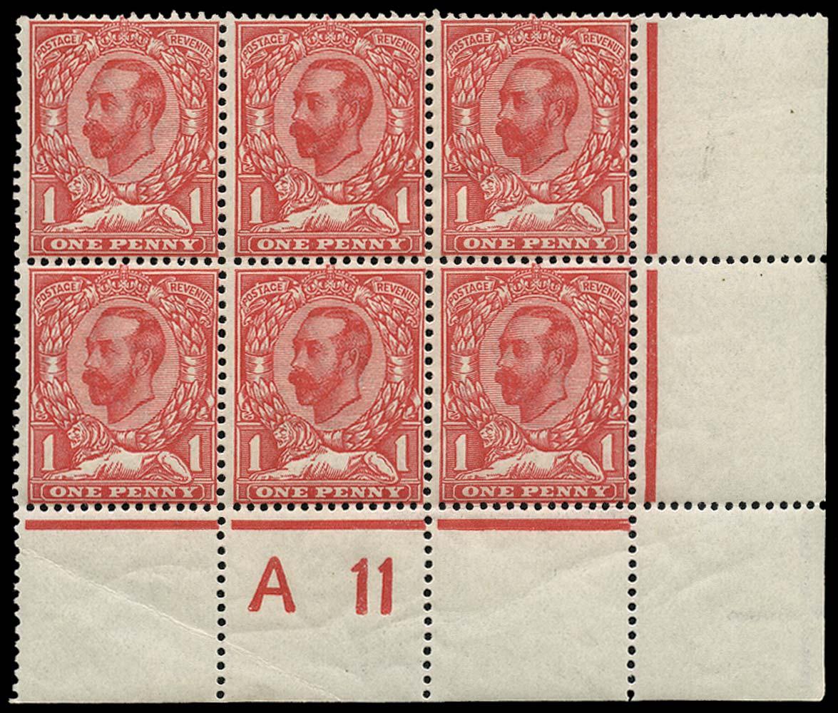 GB 1911  SG329 Mint A 11 Control