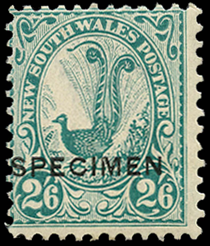 NEW SOUTH WALES 1902  SG326s Specimen 2s6d Superb Lyrebird