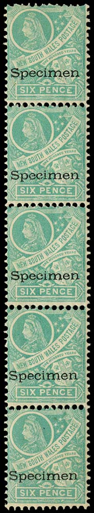 NEW SOUTH WALES 1898  SG297fs Specimen