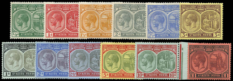 ST KITTS NEVIS 1920  SG24/36 Mint