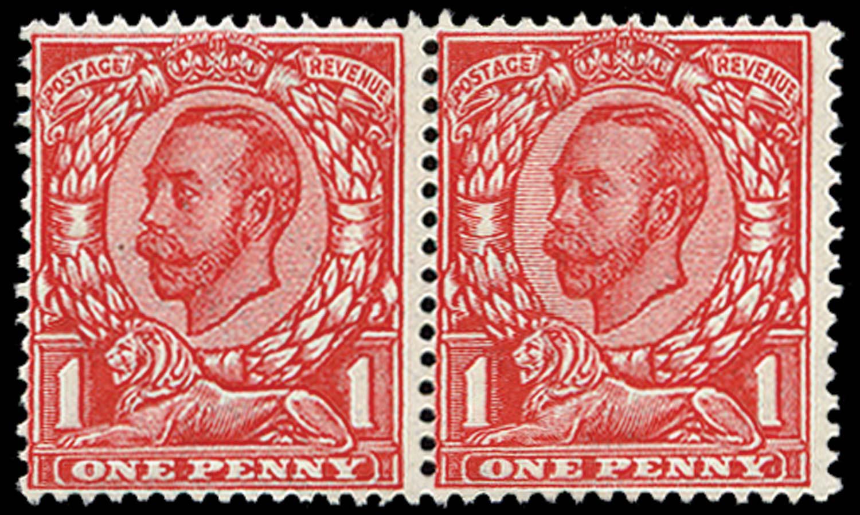 GB 1912  SG345wk Mint no cross on crown, Inv & Rev