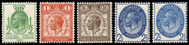 GB 1929  SG434/7 Mint