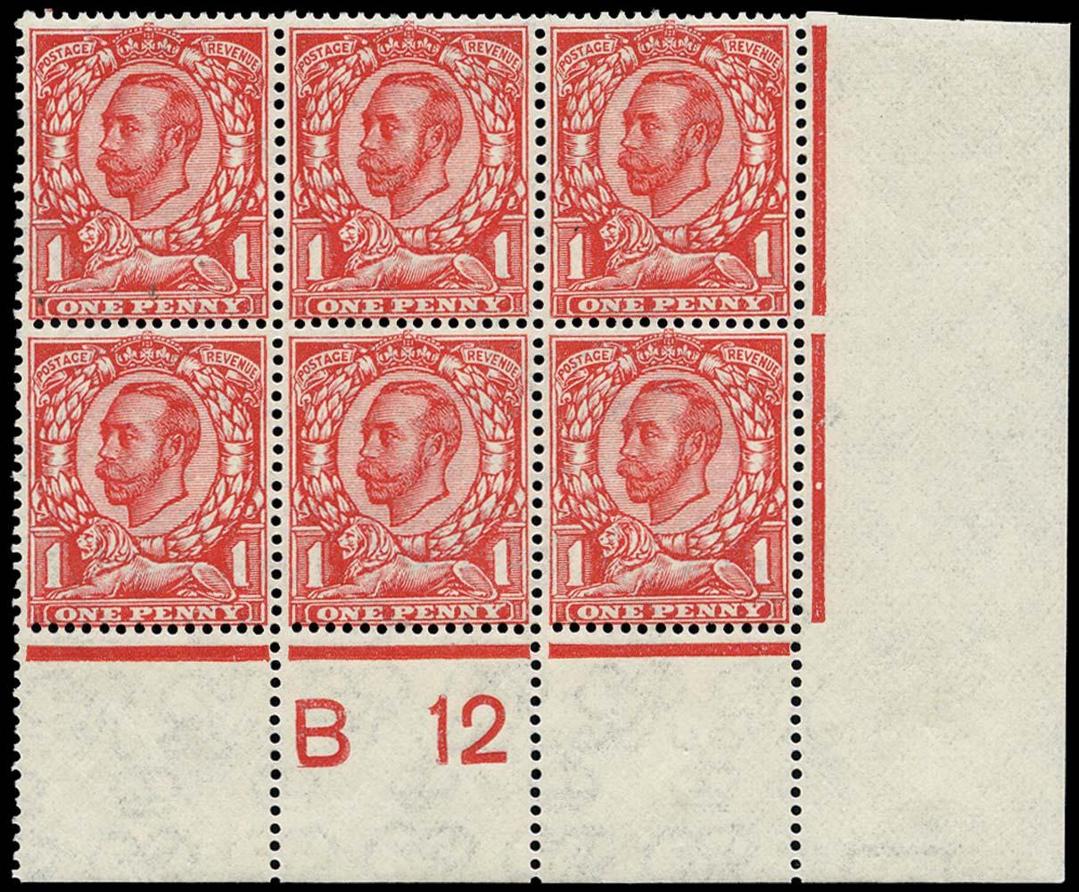 GB 1912  SG350 Mint U/M example