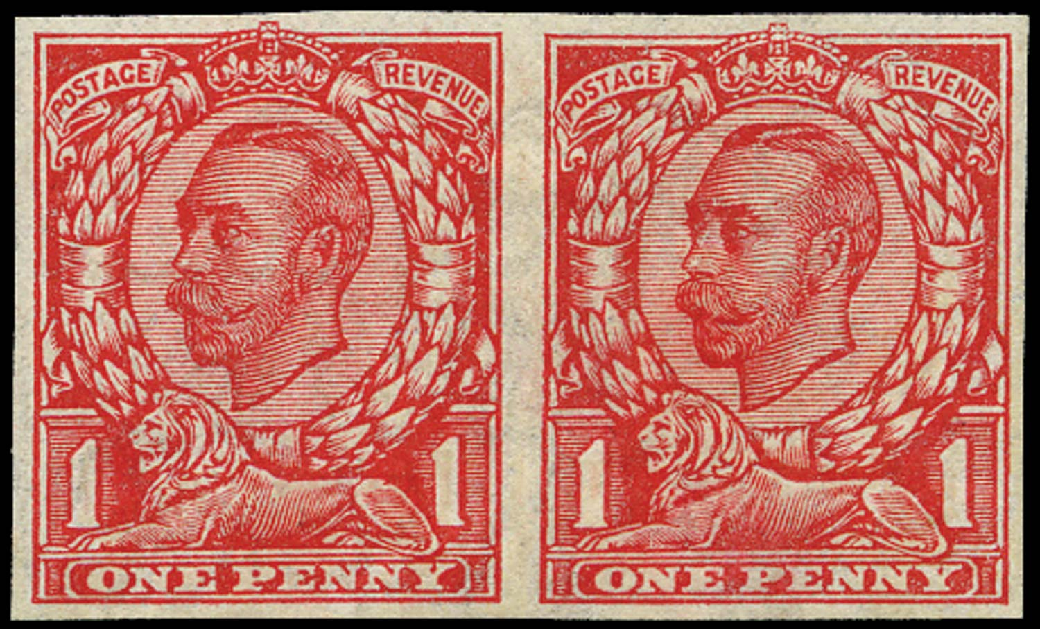 GB 1912  SG350b Mint Imperforate pair