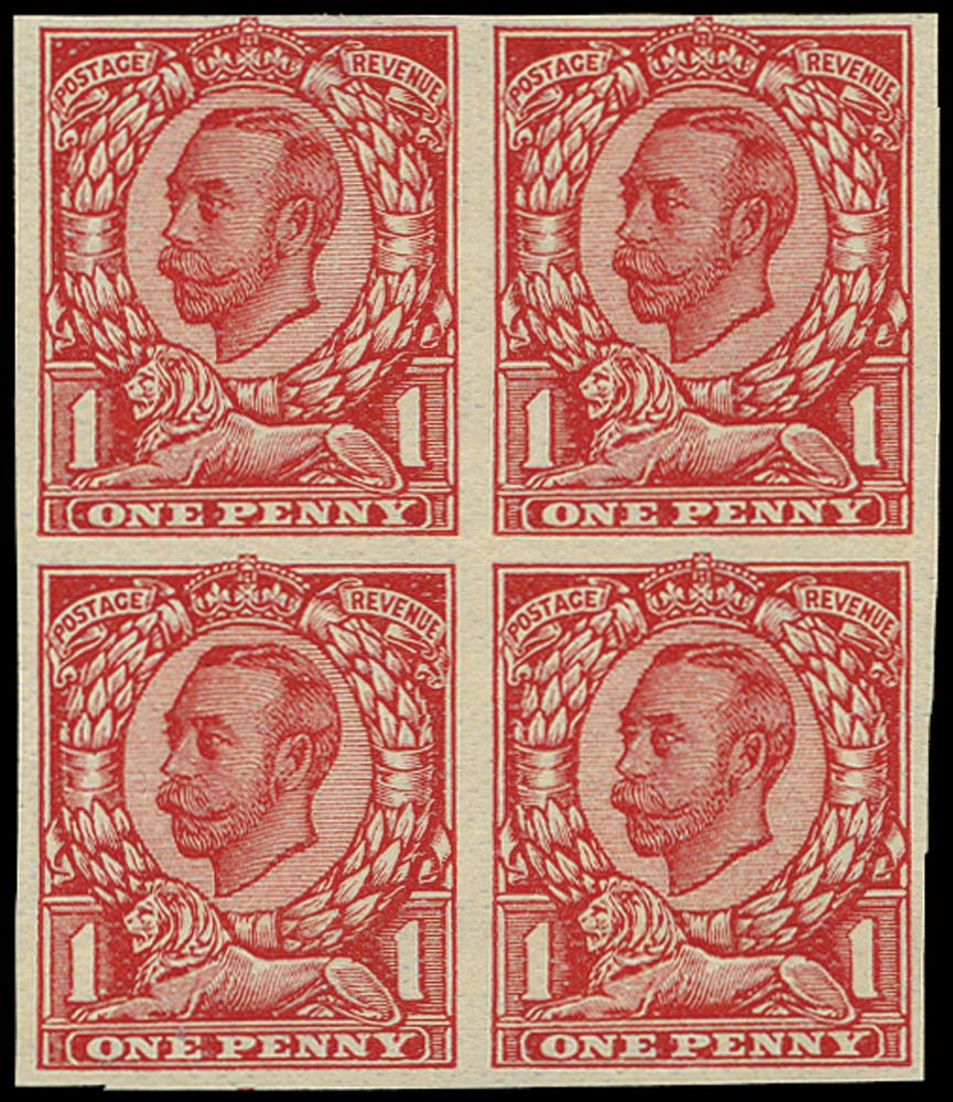 GB 1912  SG341var Trial special finish very thin paper