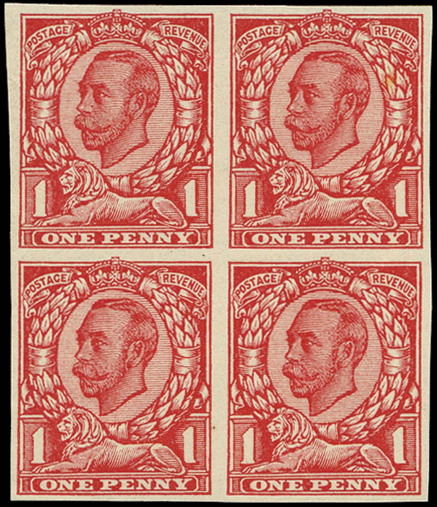 GB 1912  SG341var Trial very thin paper, plate glazed both sides