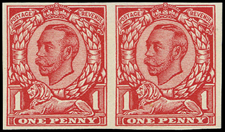 GB 1912  SG341var Trial on John Allen special finish paper.