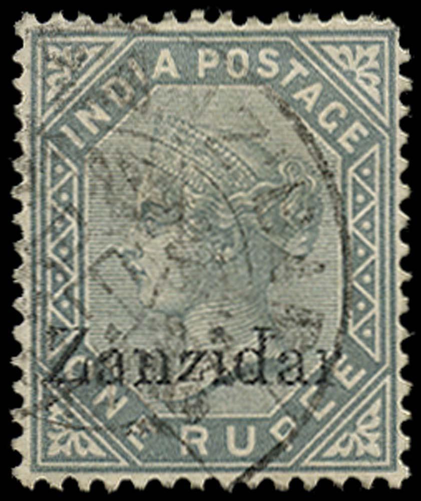 ZANZIBAR 1895  SG17j Used 1r error Zanzidar