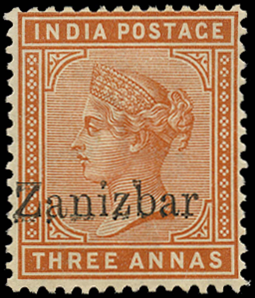 ZANZIBAR 1895  SG10k Mint 3a error Zanizbar