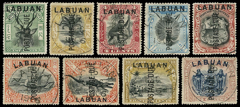 LABUAN 1901  SGD1/9c Postage Due