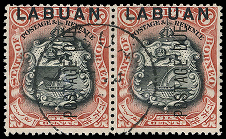 LABUAN 1901  SGD5 Postage Due