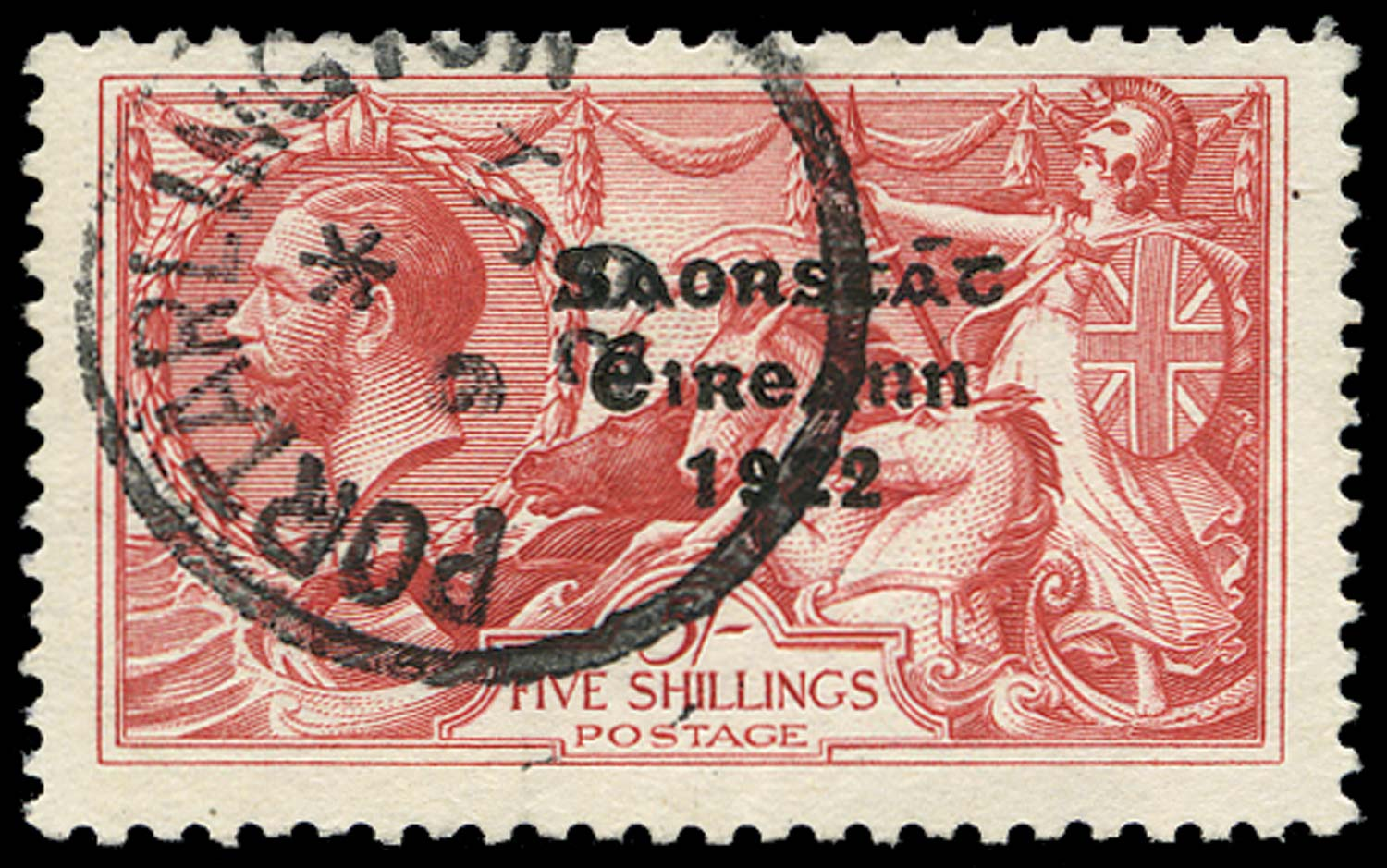 IRELAND 1925  SG87c Used 5s Flat accent on A
