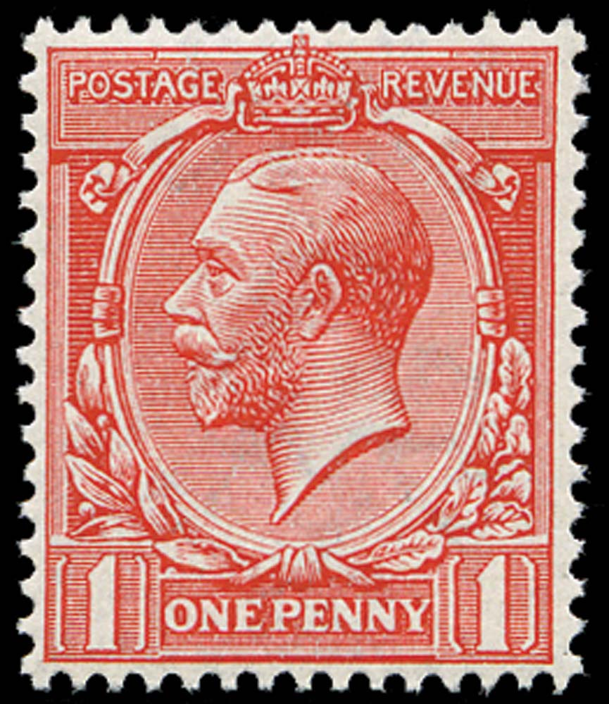 GB 1912  SG357wj Mint Unused o.g., Wmk Reversed
