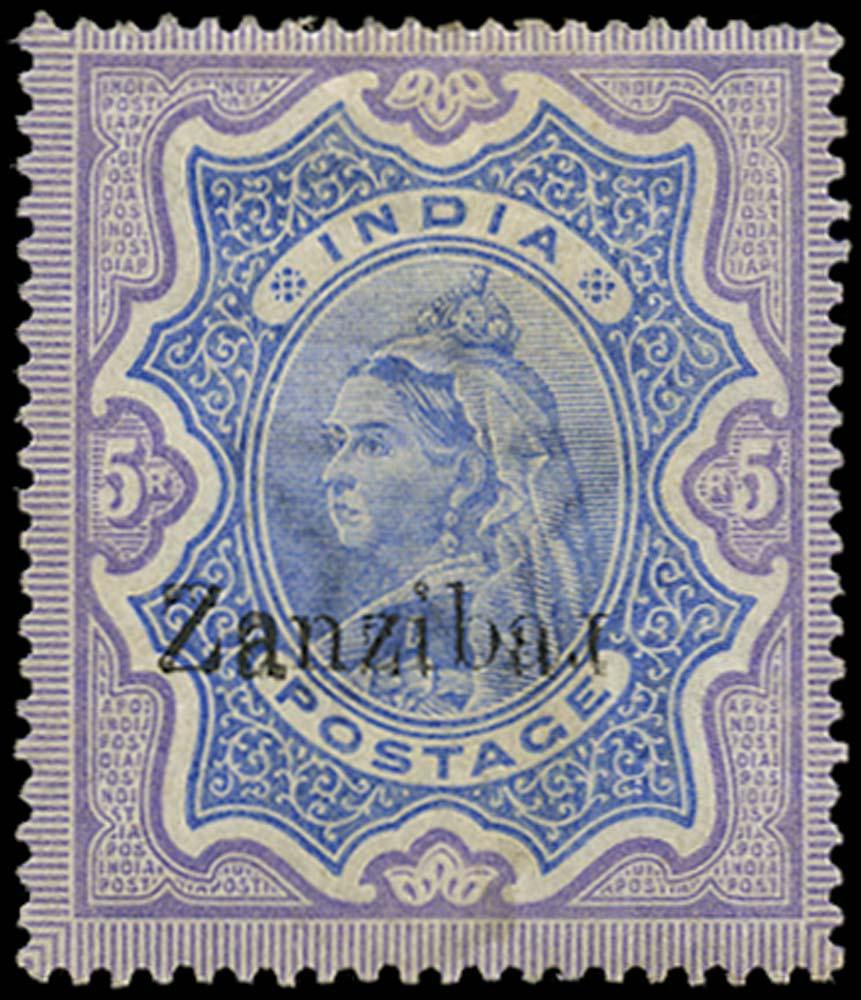 ZANZIBAR 1895  SG21k Mint