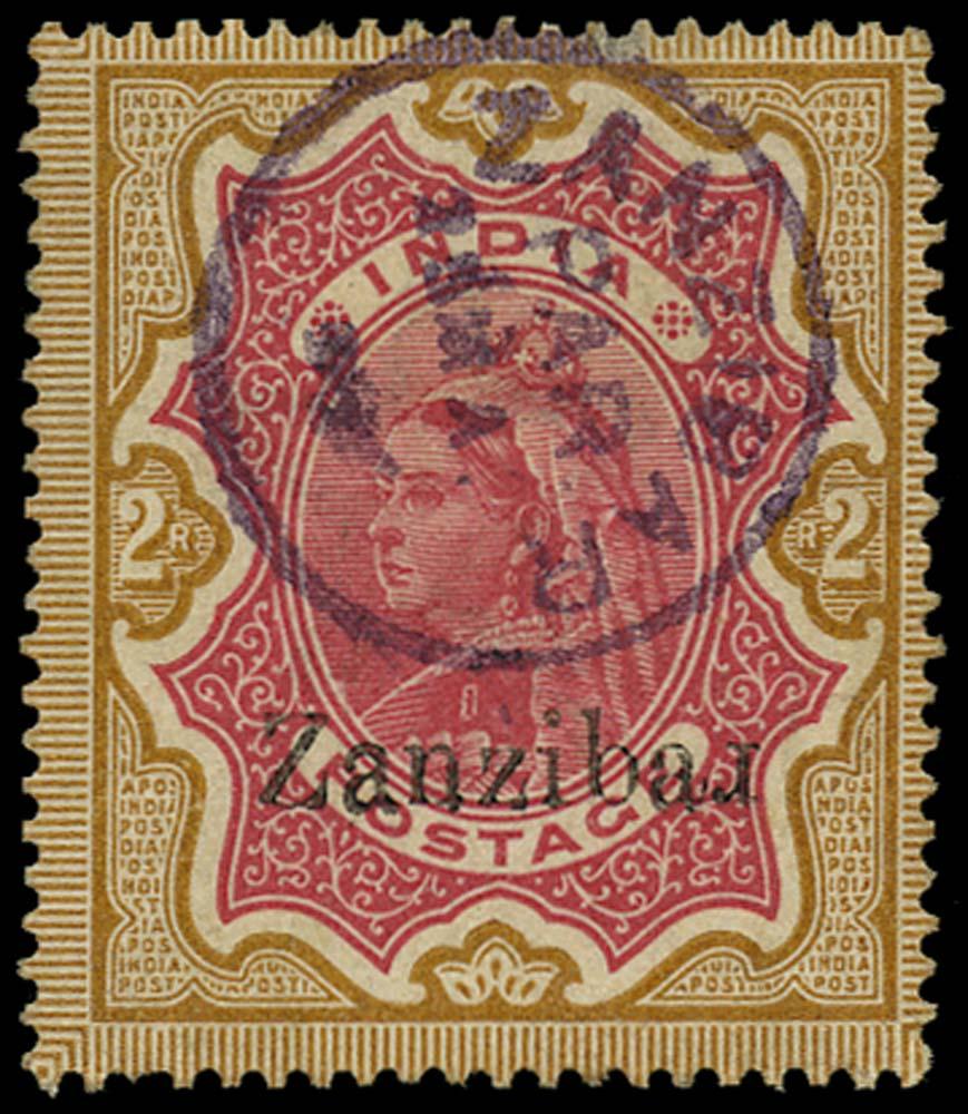 ZANZIBAR 1895  SG19k Used