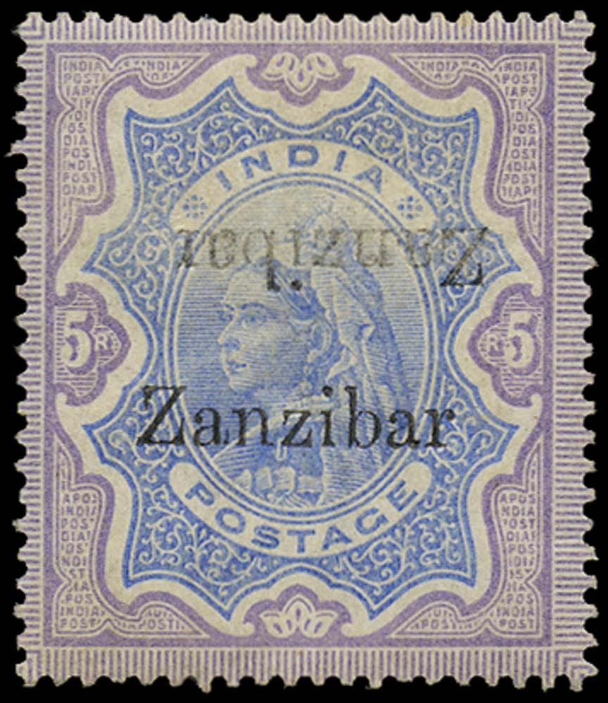 ZANZIBAR 1895  SG21l Mint