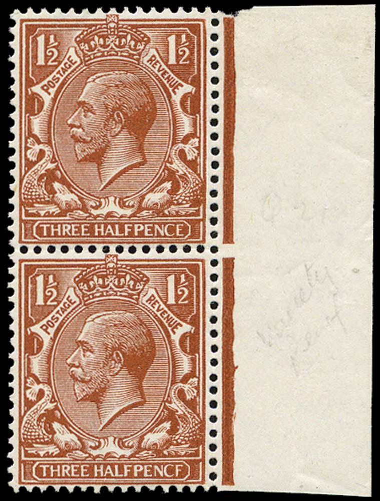 GB 1912  SG364a Mint