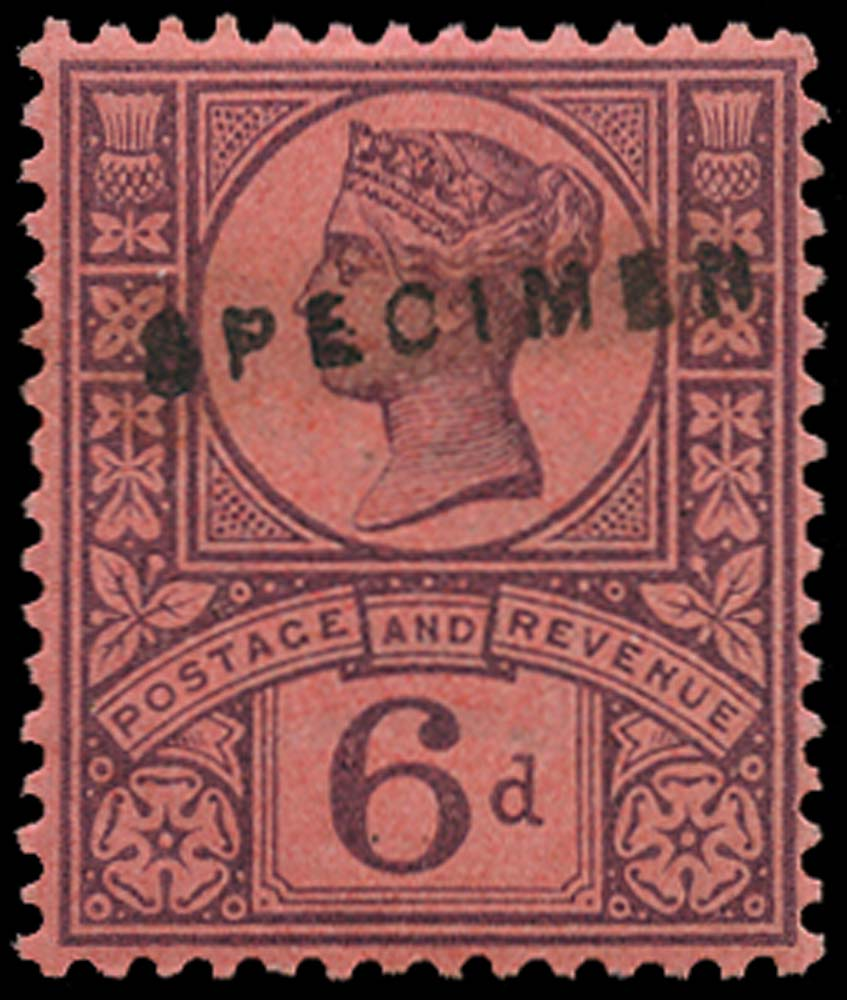 GB 1887  SG208s Specimen - type 12