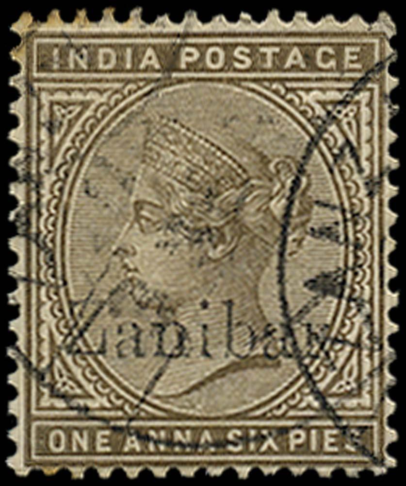 ZANZIBAR 1895  SG5k Used