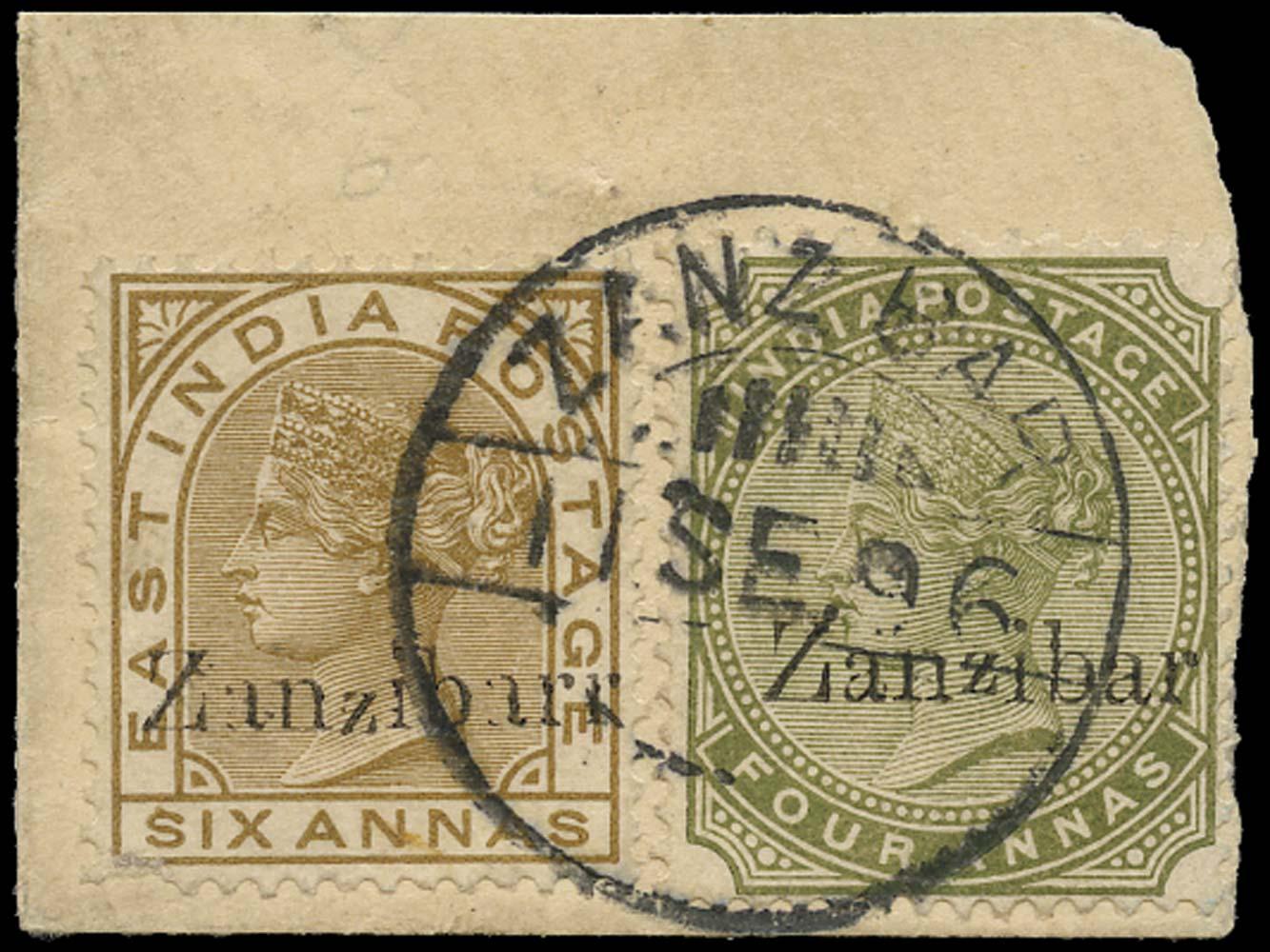 ZANZIBAR 1895  SG13l Used