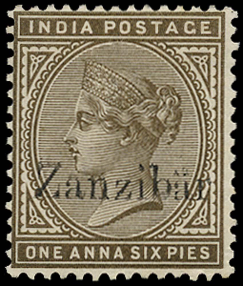 ZANZIBAR 1895  SG5m Mint