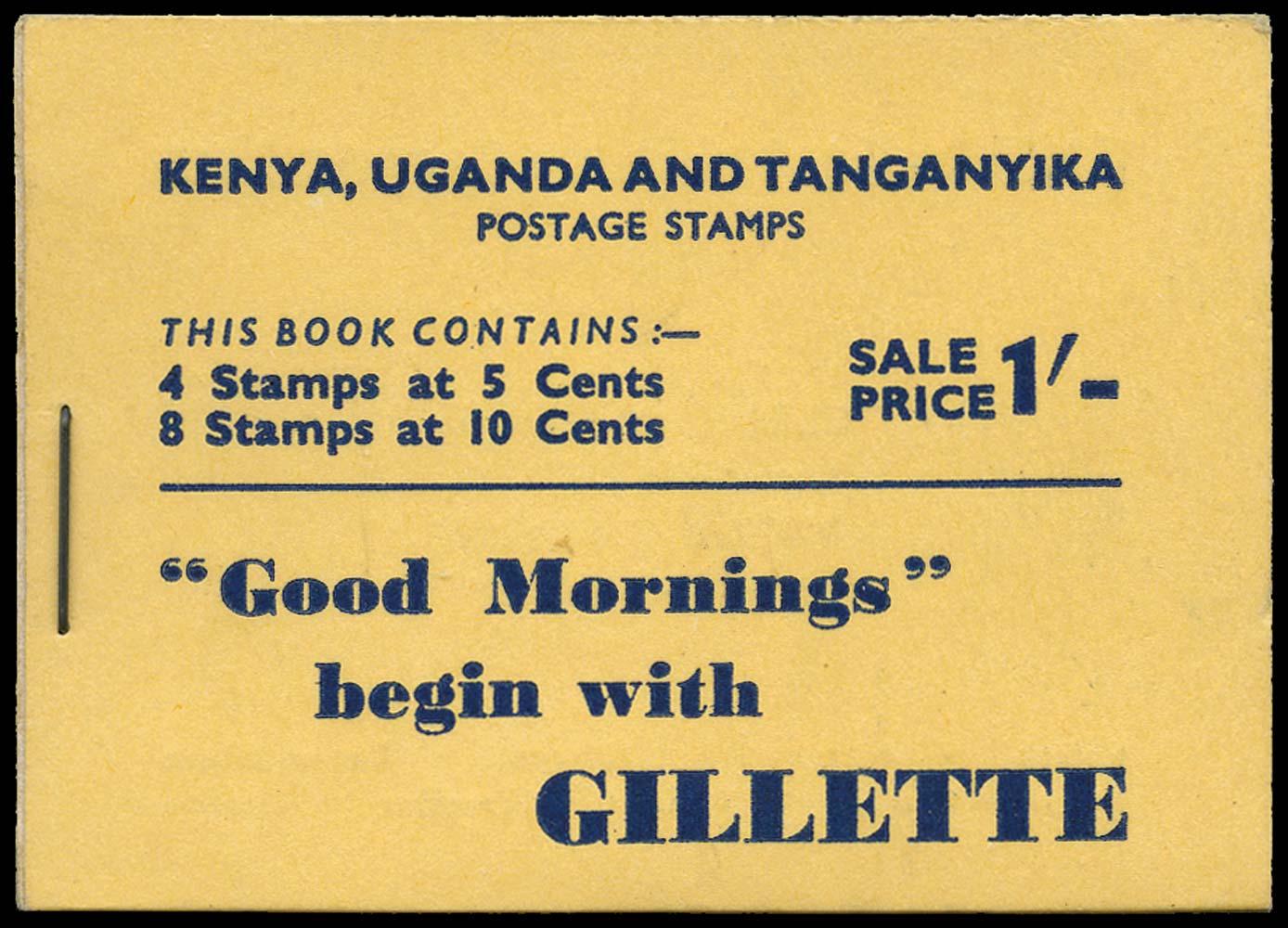 KUT 1950  SGSB4 Booklet