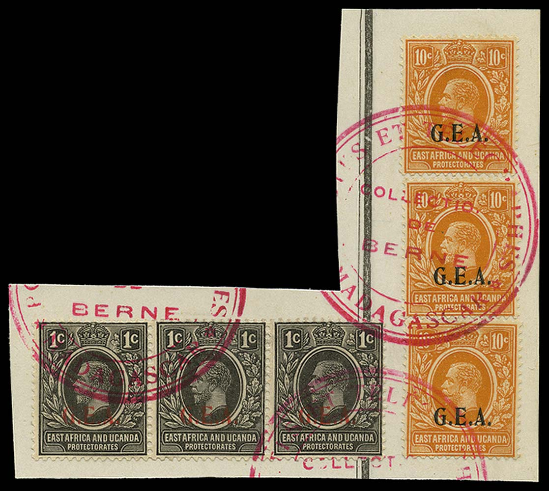 TANGANYIKA 1922  SG72/3 Specimen ex Madagascar UPU archive