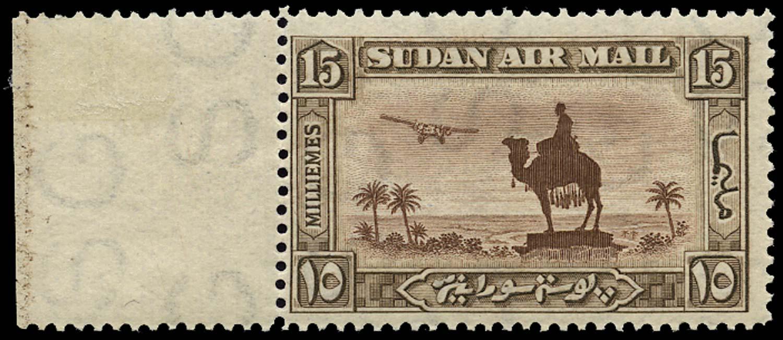 SUDAN 1931  SG52aw Mint 15m perf 14 wmk sideways inverted