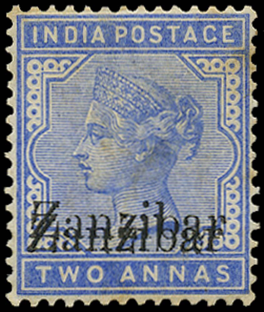 ZANZIBAR 1895  SG7m var Mint