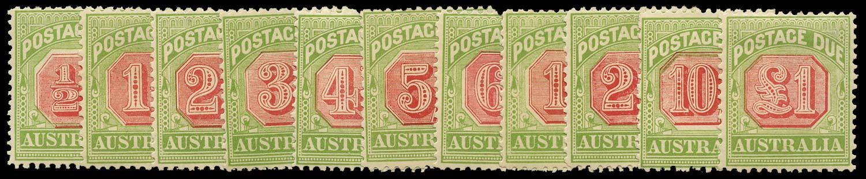AUSTRALIA 1909  SGD63/73 Postage Due