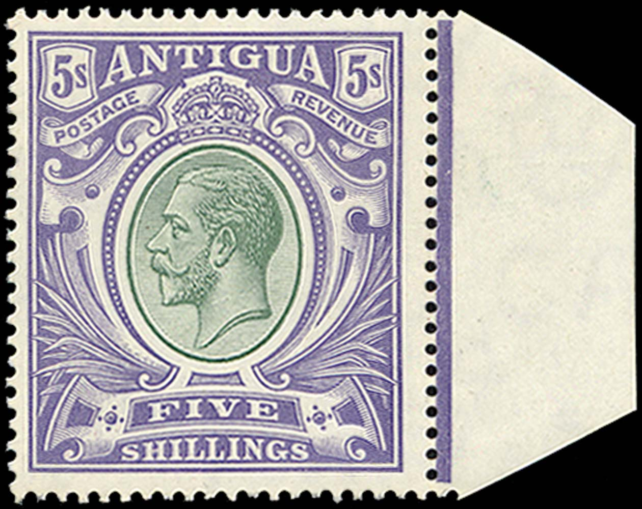 ANTIGUA 1913  SG51 Mint 5s grey-green and violet unmounted