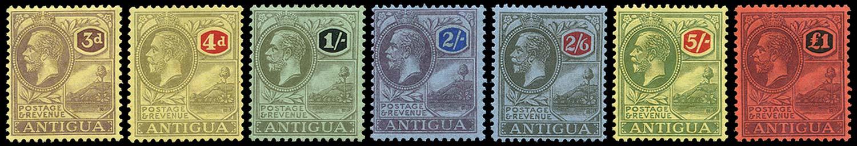 ANTIGUA 1921  SG55/61 Mint