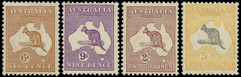 AUSTRALIA 1931  SG132/5 Mint