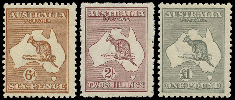 AUSTRALIA 1923  SG73/5 Mint