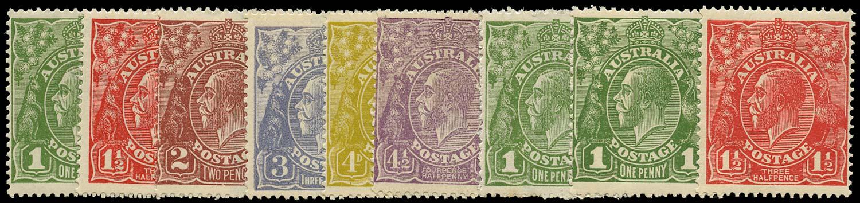 AUSTRALIA 1924  SG76/84 Mint
