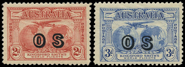 AUSTRALIA 1931  SGO123, O124 Official
