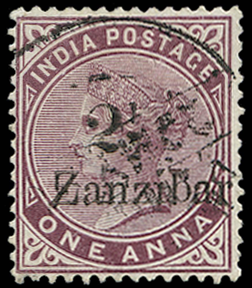 ZANZIBAR 1896  SG25(H) Used