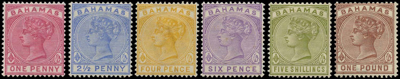 BAHAMAS 1884  SG49/57 Mint