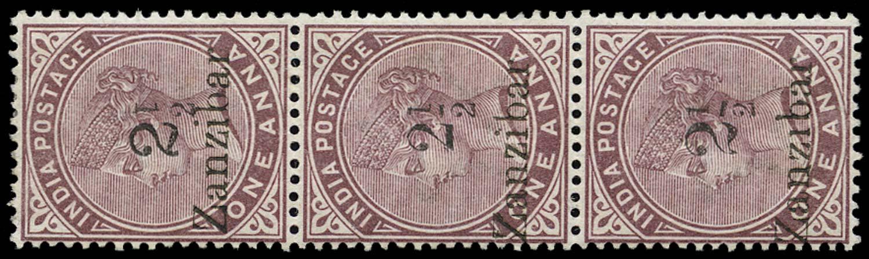 ZANZIBAR 1896  SG24j/23C/25G Mint