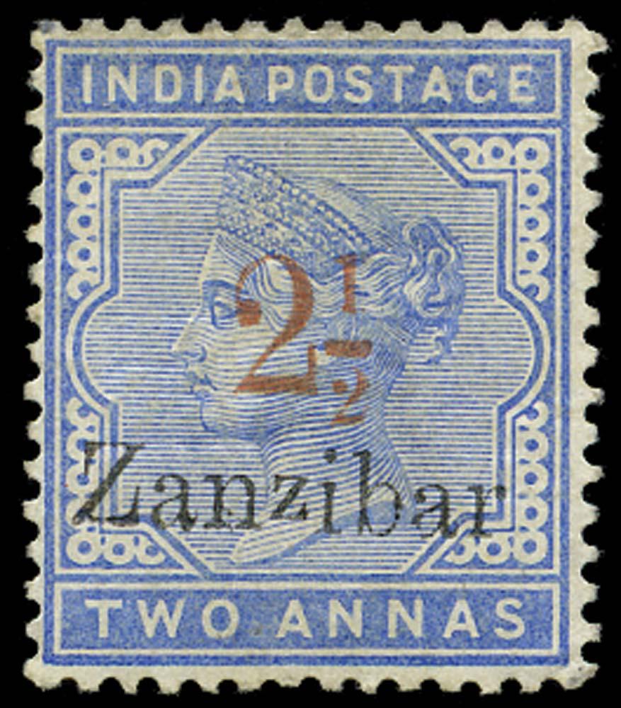 ZANZIBAR 1896  SG26m Mint